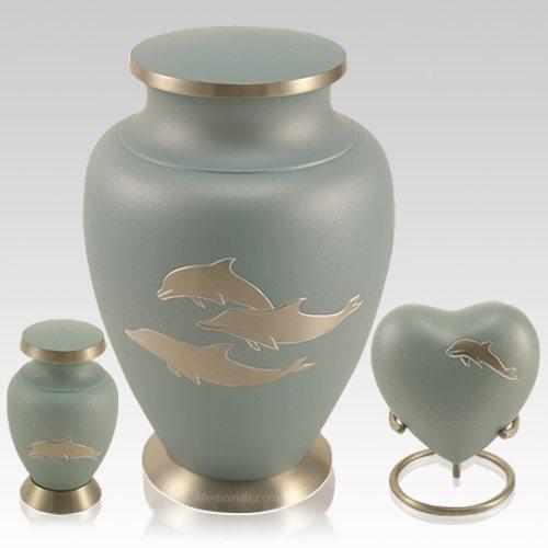 Dolphin Blue Cremation Urns