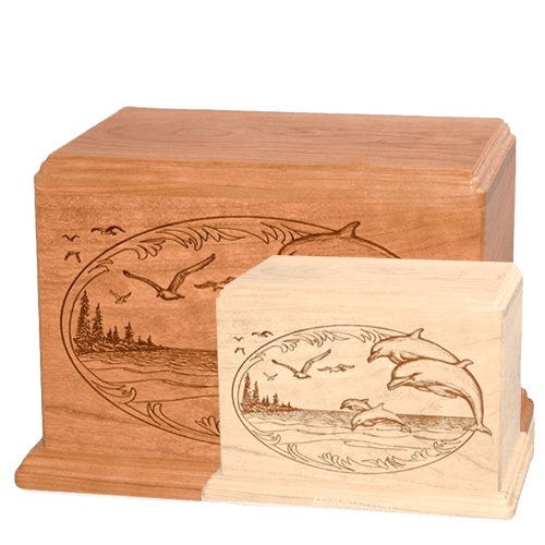 Dolphin Wood Urns