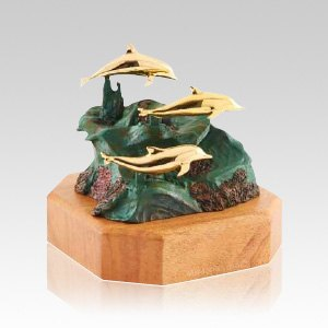 Playing Dolphins Infant Urn