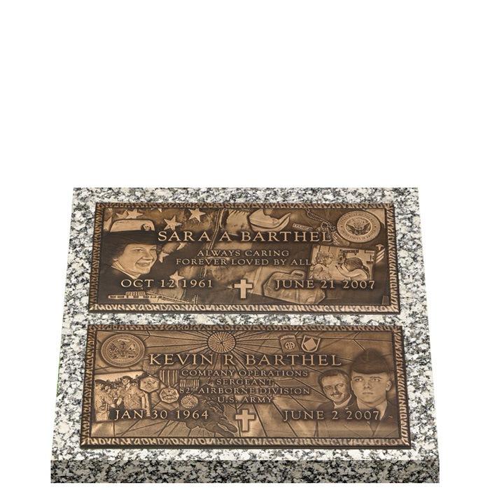 Double Deep Bronze Expression Double Grave Marker