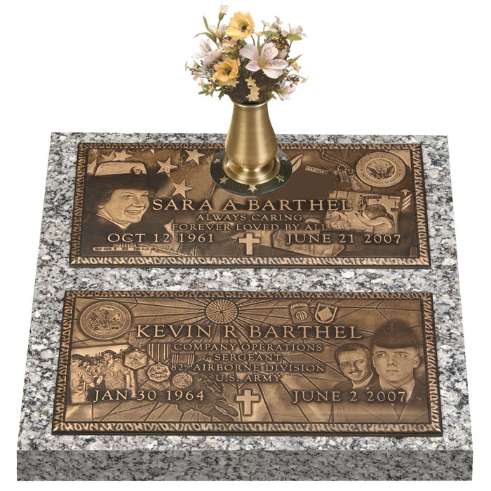 Double Deep Bronze Expression Double Grave Marker II
