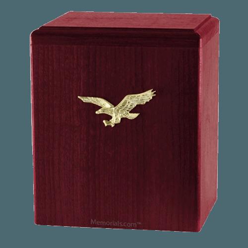Eagle Ascent Rosewood Cremation Urn