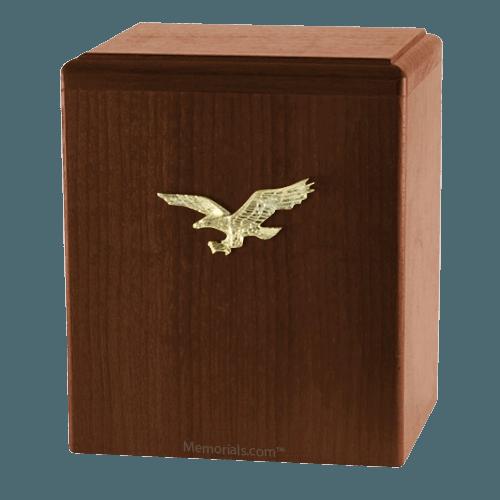 Eagle Ascent Walnut Cremation Urn