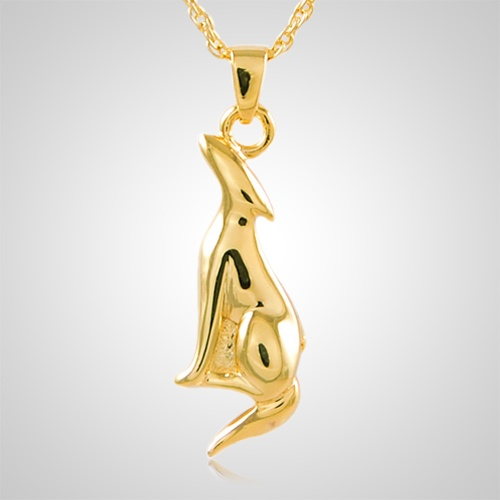 Elegant Cat Cremation Pendant IV