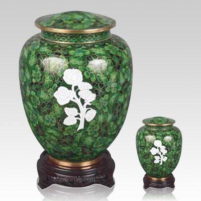 Peaceful Rose Cloisonne Cremation Urns