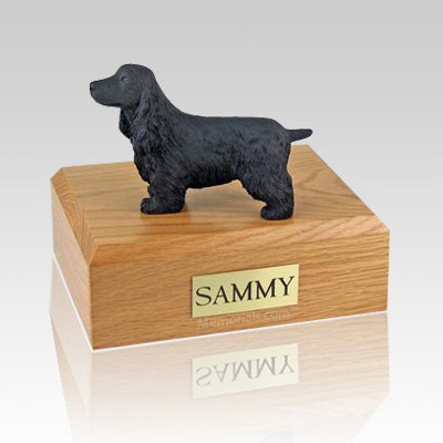 English Cocker Black Dog Urns