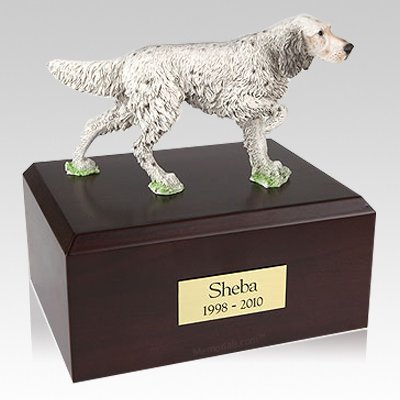 English Setter Standing Dog Urns