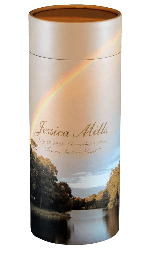 Rainbow Scattering Medium Large Biodegradable Urn