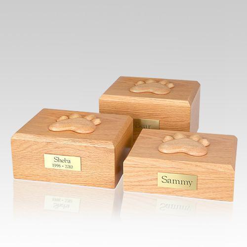 Eternal Paw Oak Wood Dog Urns