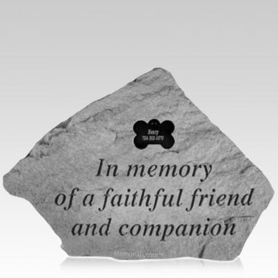 Faithful Dog Memorial Stone