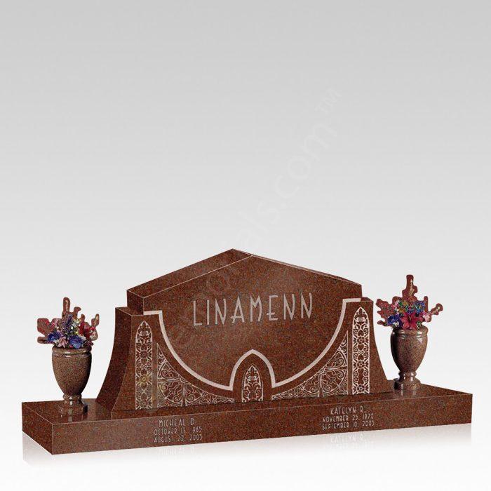 Filigree Upright Cemetery Headstone