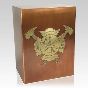 Fireman Copper Cremation Urn