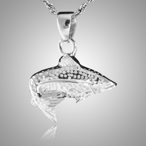 Happy fish cremation jewelry for Fish cremation jewelry
