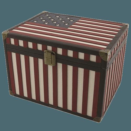 Flag Chest Cremation Urn