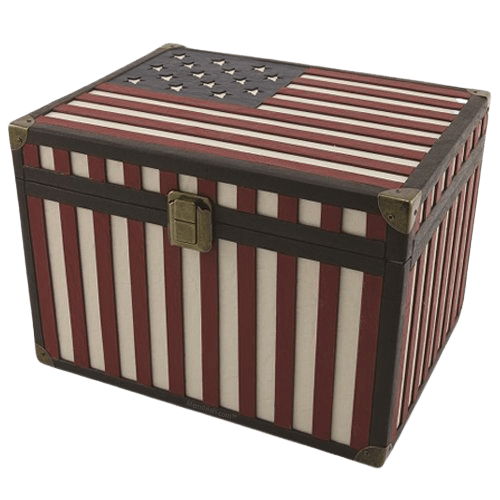 Flag Chest Cremation Urns