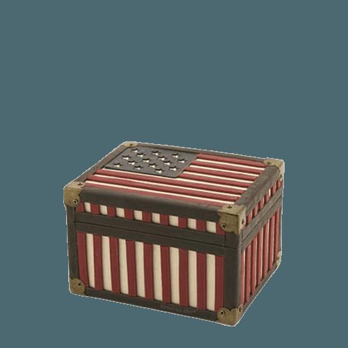 Flag Chest Keepsake Cremation Urn