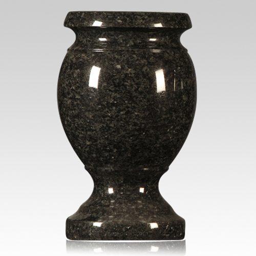 Flash Black Granite Vase