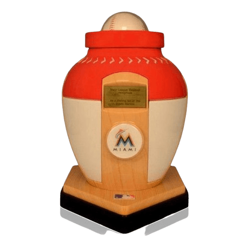 Miami Marlins Baseball Cremation Urn