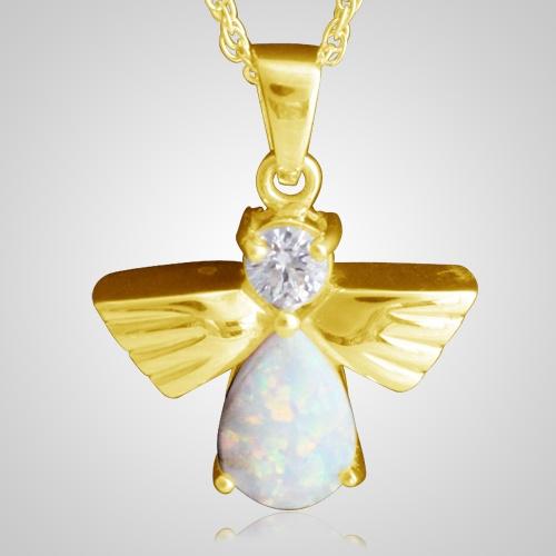 Flying Angel Opal Cremation Pendant IV