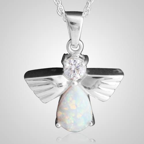 Flying Angel Opal Cremation Pendant