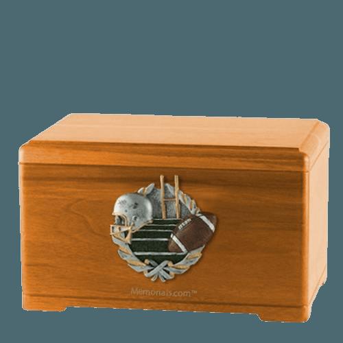 Football Fan Oak Cremation Urn