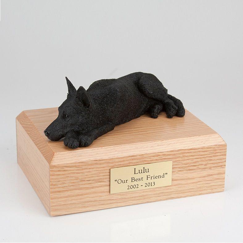 German Shepherd Black Medium Dog Urn