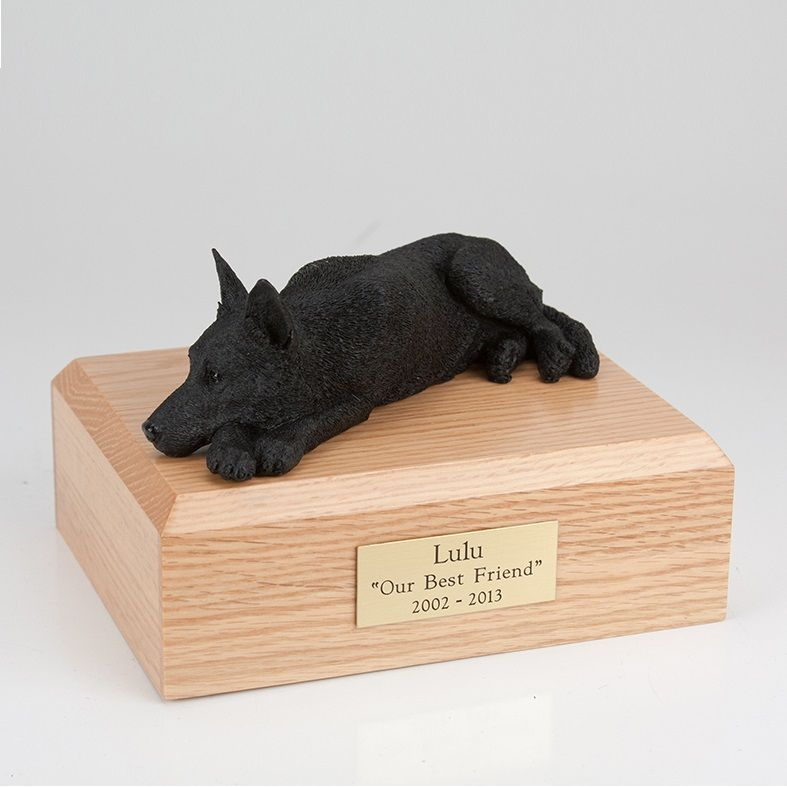 German Shepherd Black Large Dog Urn