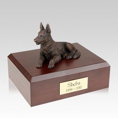 German Shepherd Bronze Large Dog Urn