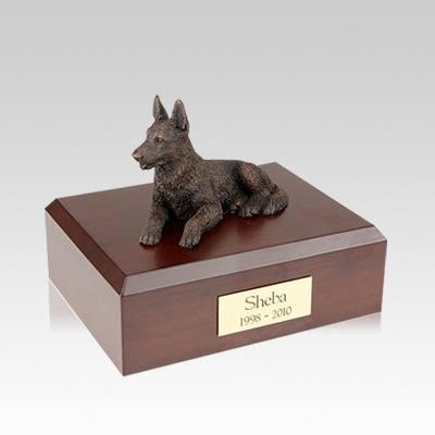 German Shepherd Bronze Medium Dog Urn