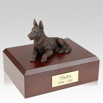 German Shepherd Bronze X Large Dog Urn