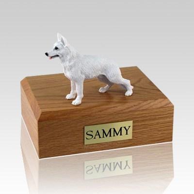 German Shepherd White X Large Dog Urn