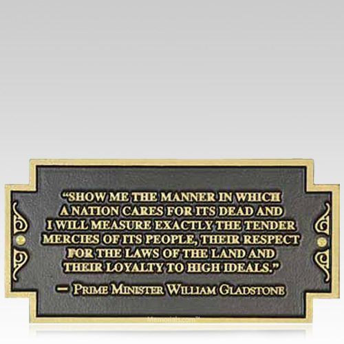 Gladstone Dedication Plaque