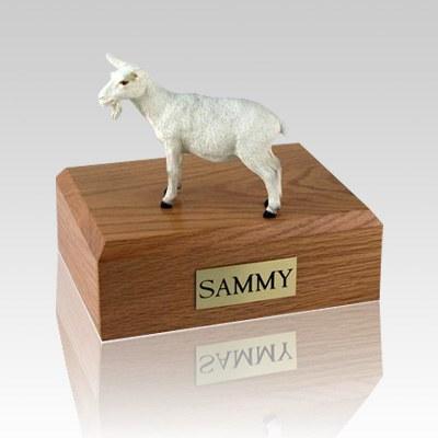 Goat White Large Cremation Urn