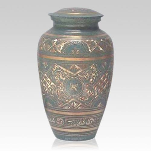 Golden Green Waters Cremation Urn