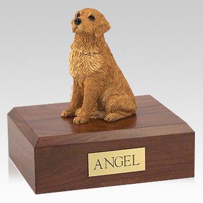 Golden Retriever Golden Sitting Dog Urns