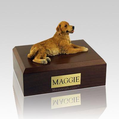 Golden Retriever Laying Dog Urns