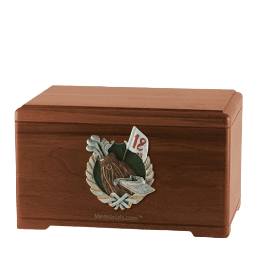 Golfer Walnut Cremation Urn