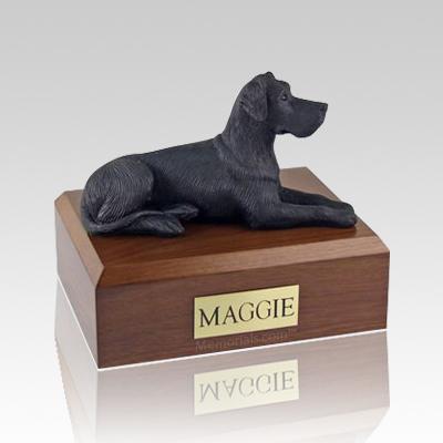 Great Dane Black Ears Down Large Dog Urn