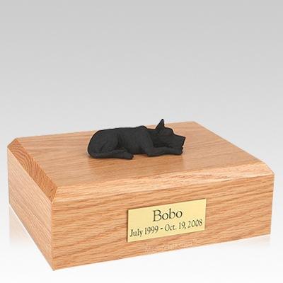 Great Dane Black Laying Dog Urns