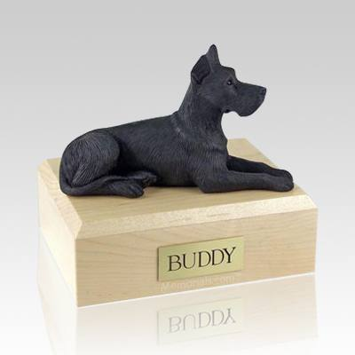Great Dane Black Dog Urns