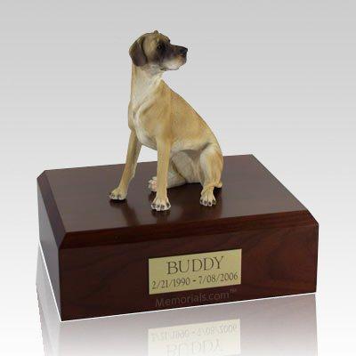 Great Dane Fawn Ears Down Sitting Dog Urns