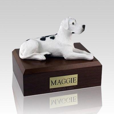 Great Dane Harlequin Ears Down Laying Dog Urns