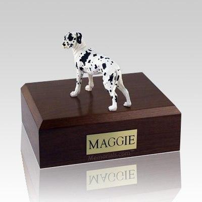 Great Dane Harlequin Ears Down Standing Dog Urns