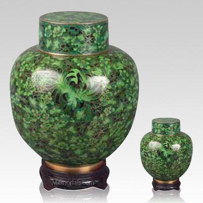 Emperor Green Cloisonne Cremation Urns