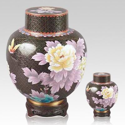 Emperor Lotus Cloisonne Cremation Urns