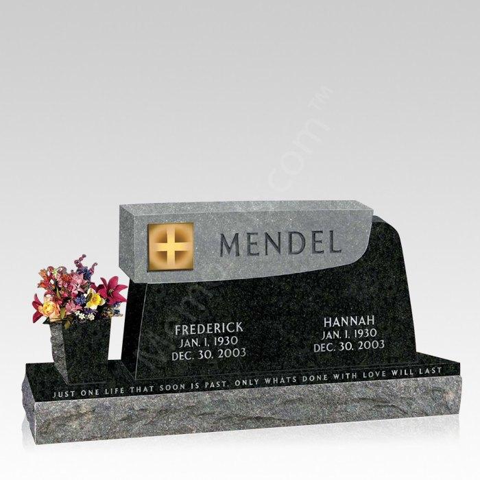 Greek Cross Upright Cemetery Headstone