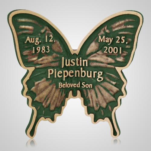 Green Butterfly Grave Bronze
