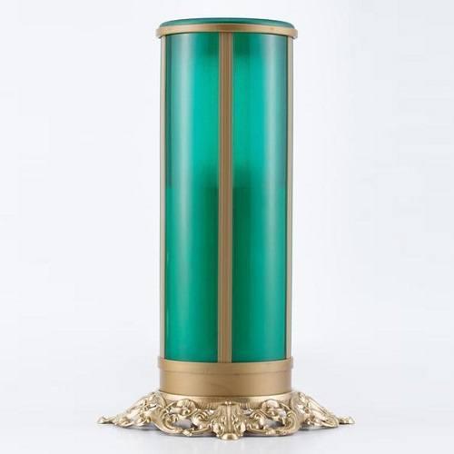 Green Filigree Memorial Candle