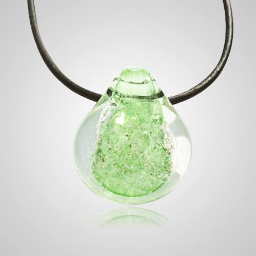 Green Memory Glass Pendants
