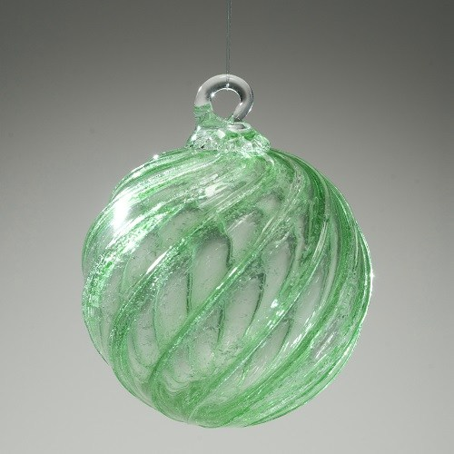 Green Glass Cremation Ornament